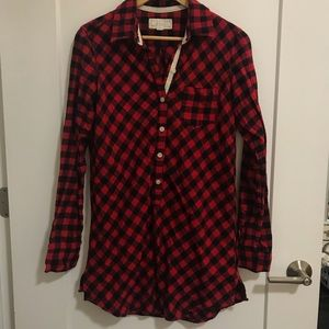 cozy flannel tunic | aerie